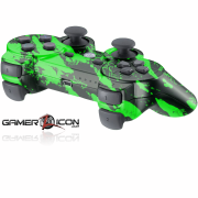 PS3 Savage Green Modded Controller
