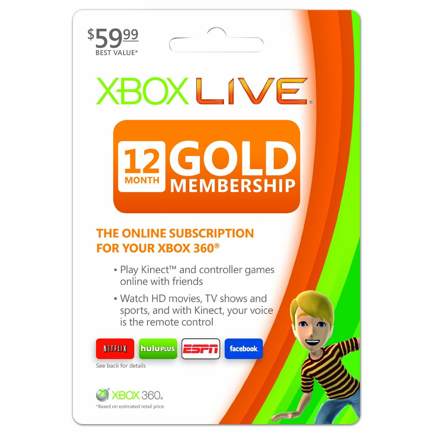 Xbox 360 Live Subscription Gold Card Xbox LIVE 1 year Subscription $35 on eBay and Going Fast