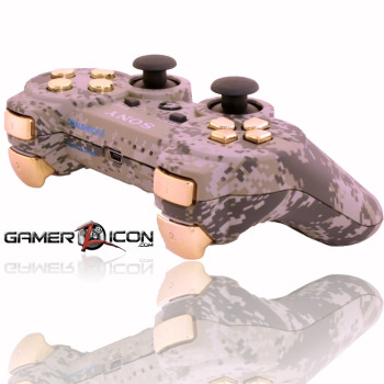 PS3 Urban Camo Chrome Gold Rapid Fire Controller