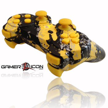 PS3 Chrome All Savage Yellow Rapid Fire Controller