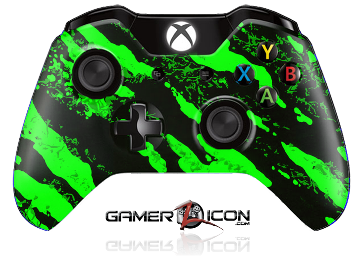 Xbox one savage green controller gamerzicon your leader marine grade hydrodipped finish ccuart Image collections